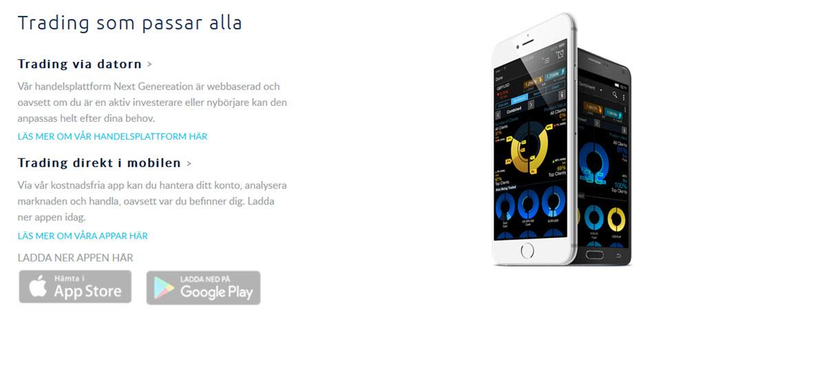 cmc markets mobil handel